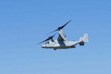 V-22 Osprey aircraft in flight