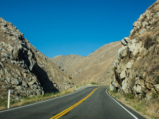 on the way on the mountain of sequoia national forest in CA, USA