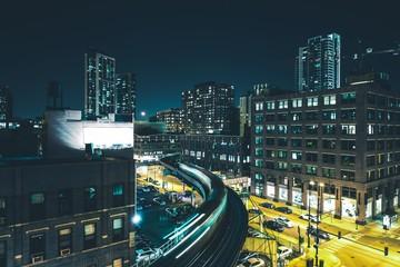 Chicago Night Train Rush