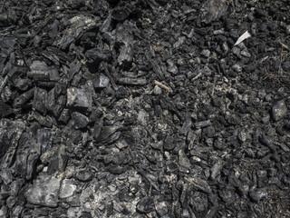 Textura de carbón, leña, fogón.