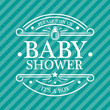 Blue Baby Shower Emblem