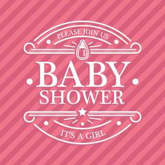 Pink Baby Shower Emblem
