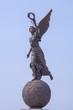 Leinwanddruck Bild - Goddess of victory Nike on sphere.