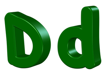 yeşil renkli d tasarımı