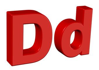 kırmızı d harfi tasarımı