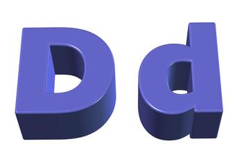 açık mavi d harfi