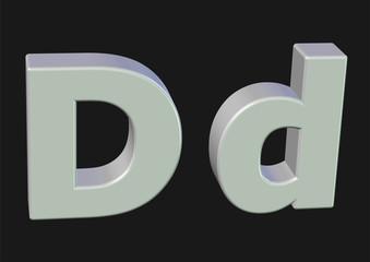 beyaz d harfi tasarım