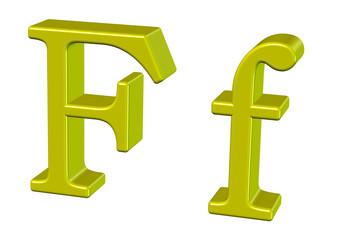 sarı renkli f tasarımı