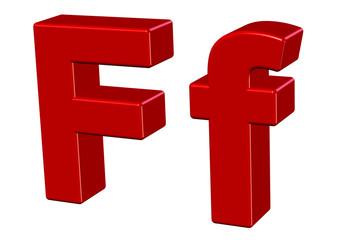 kırmızı f tasarımı