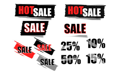 Sale tags - Discount price tags saving price