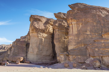 Pillars of the Solomon King in Timna geological park
