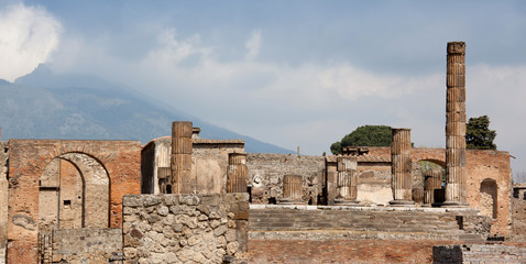 ancient town Pompeii in Italy