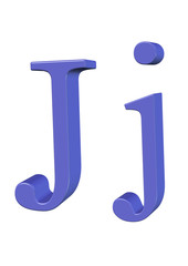 mavi renkli J harfi