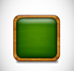 Green app icon. Vector
