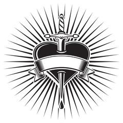 Tattoo cuore trafitto