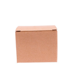 closed cardboard box with white background