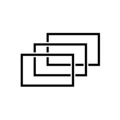 black rectangles - 3d space illusion