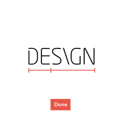design title, visual idea for design book, blog etc.