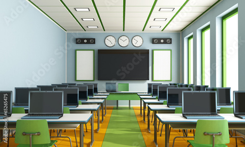 Multimedia classroom without student - 65265475