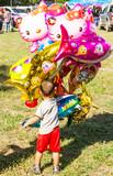 Colorful cartoon balloon