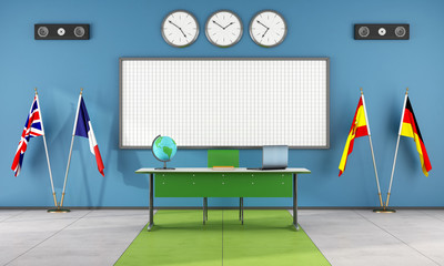Classroom of a language school