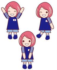 ワールドカップ応援|女性サポーターのセット