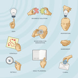 Set of business pictographs. poster