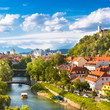 Panorama of Ljubljana, Slovenia, Europe.
