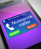 Nuisance caller concept. poster