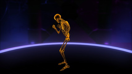 Xray skeleton boxing Loop