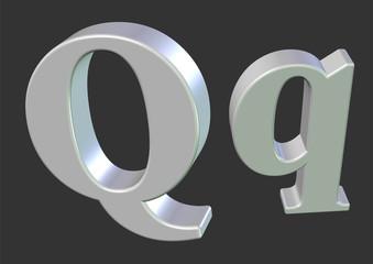 beyaz Q harfi