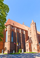 Saint John Cathedral (1384) in Kwidzyn town, Poland