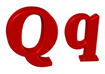 kırmızı renkli Q harfi