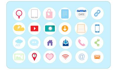 Internet Marketing social icons set