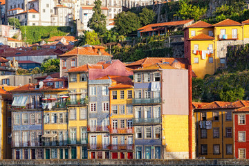 Multi-colored old houses , Porto, Portugal