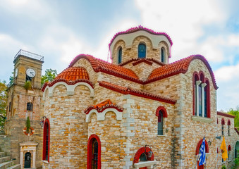 Old church in Agios Lavrendios village Pilion Greece