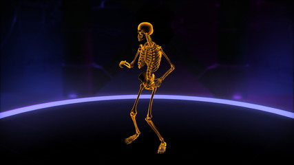 Xray dancing skeleton Slow Motion Loop