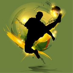 soccer player ink splash