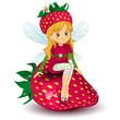 Fairy strawberry sitting