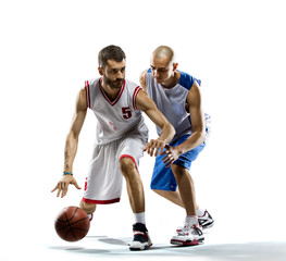 2 basketball players