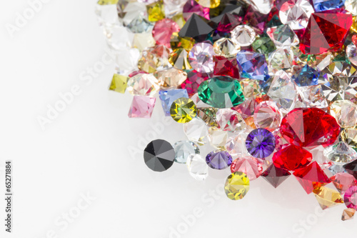 Collection of many different natural gemstones. - 65271884