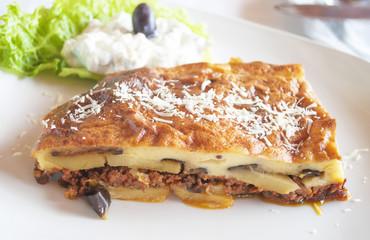 Traditional Greek food - Moussaka