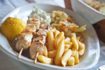 Traditional Greek food - Souvlaki