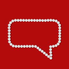 pills concept: speech, bubble, cloud