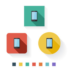 Phone Flat Icon Design Kit Set Collection