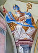 Fresco of saint Augustine in Saint Anton palace - Slovakia