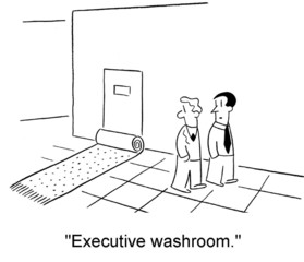 """Executive washroom"""