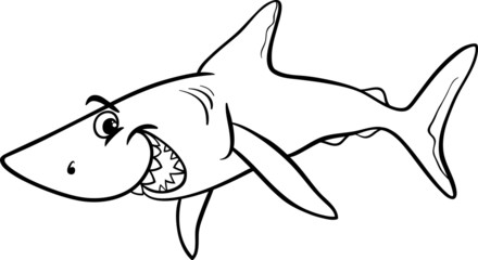shark animal cartoon coloring book