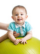 baby on gymnastic ball