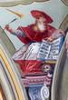 Leinwanddruck Bild - Saint Anton palace - Fresco of saint Hieronymus